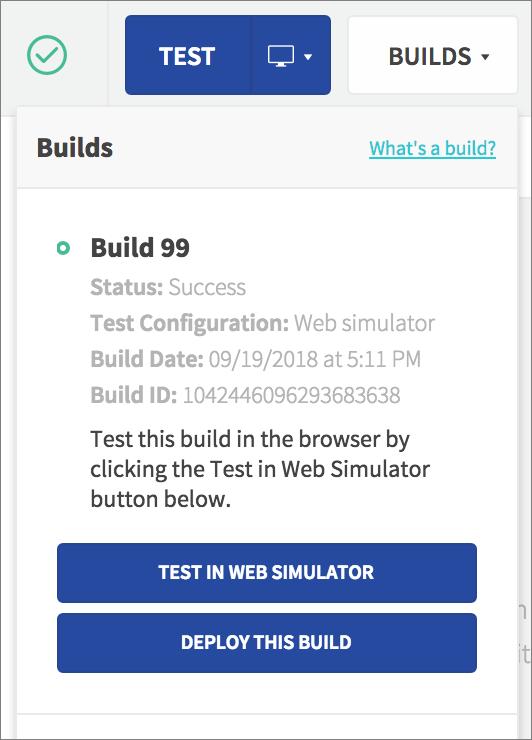 builds list