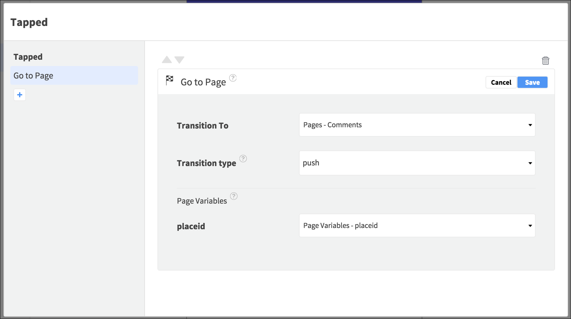 comment page navigation