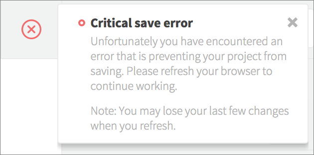 critical save