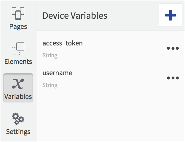 device variables