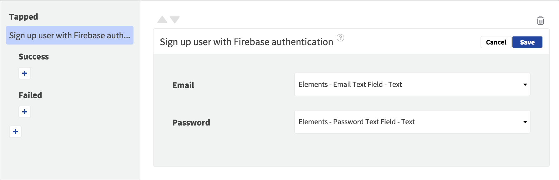 firebase sign up