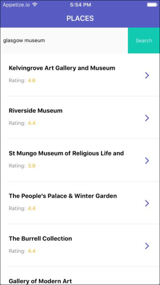 ios place search results