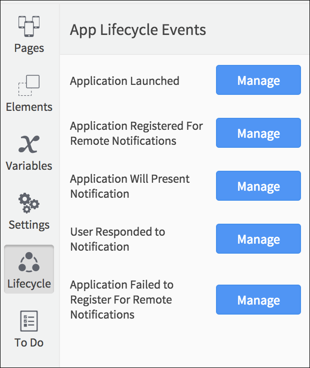 lifecycle events