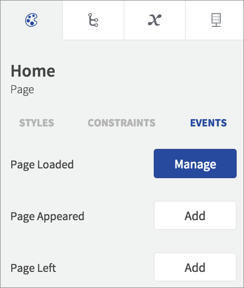 page events