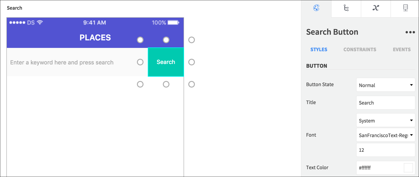place search elements