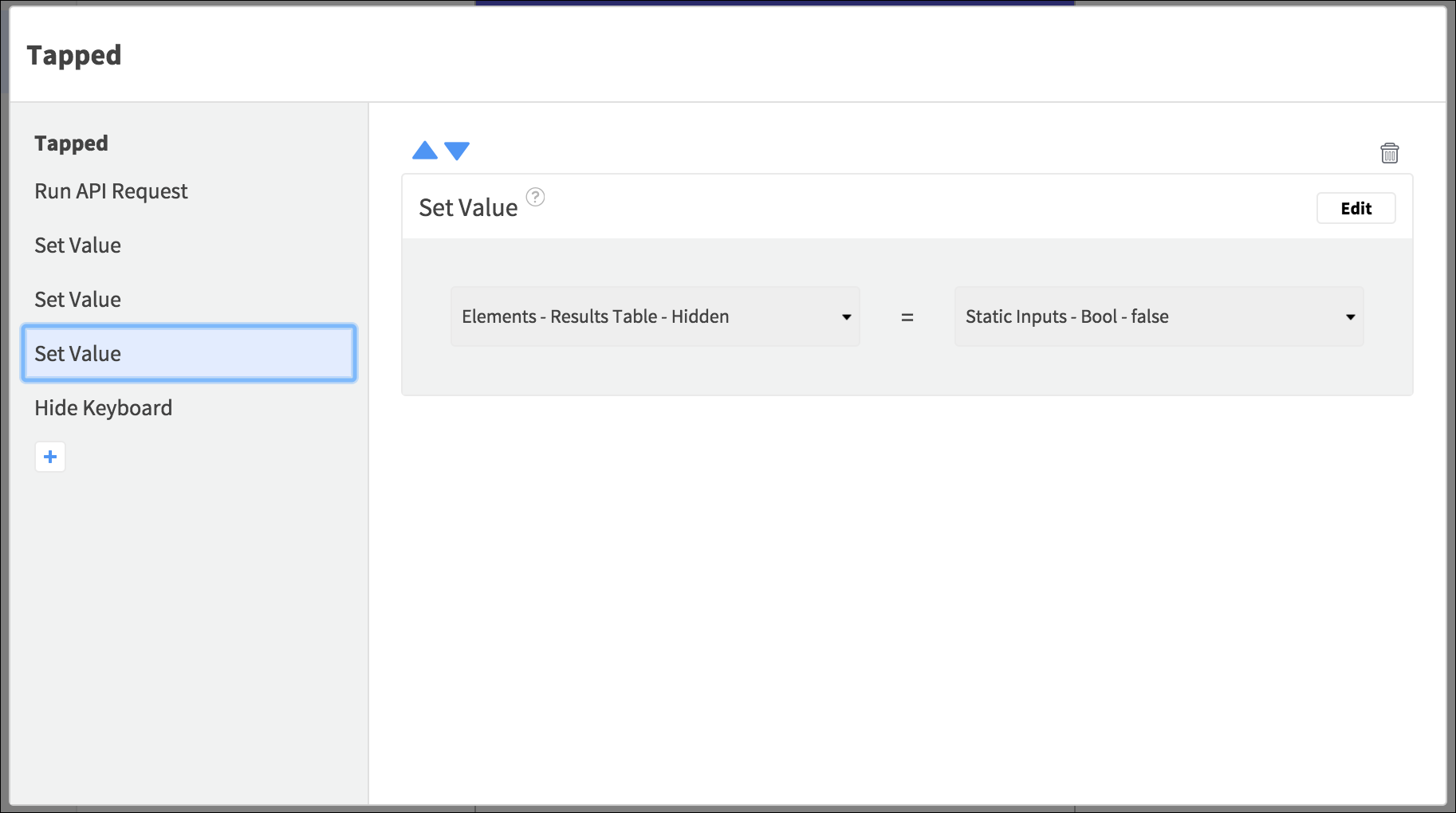 search actions