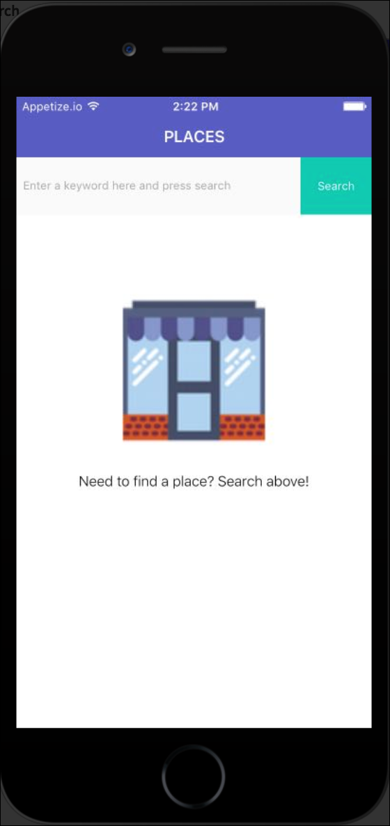 search page initially