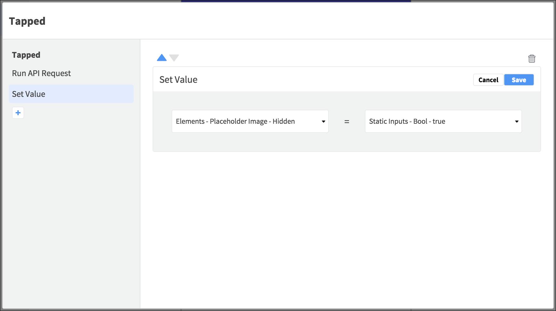 set element value