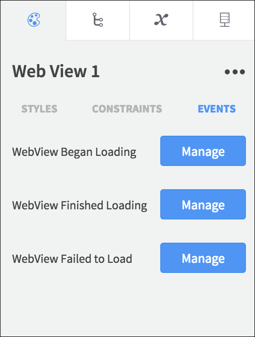 web view events