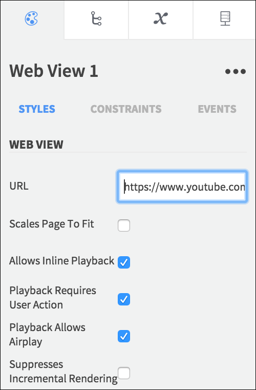 web view playback