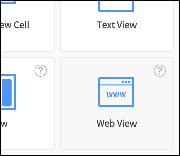 web view select