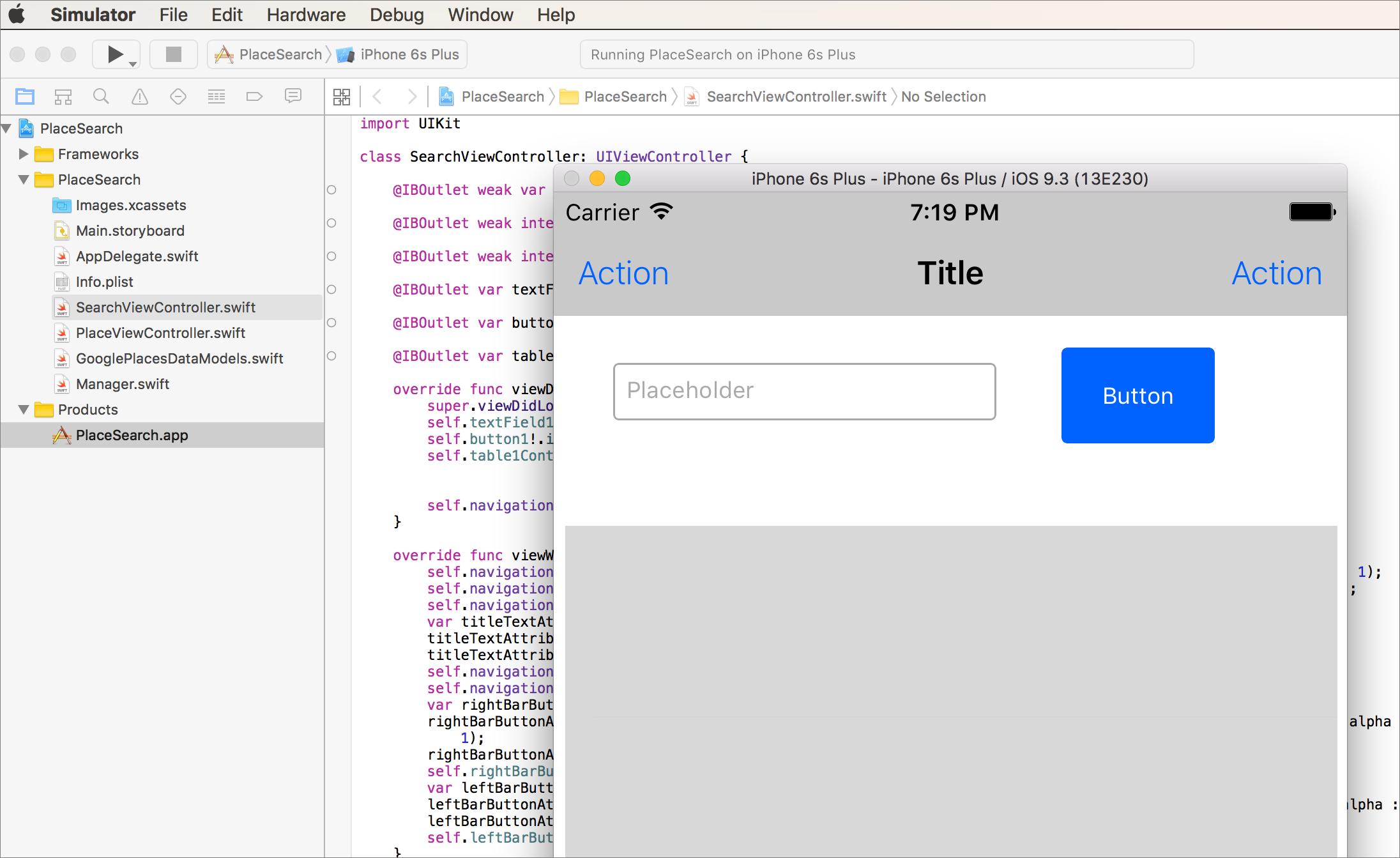 xcode running