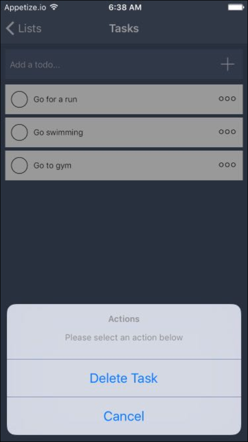 checklist delete ios