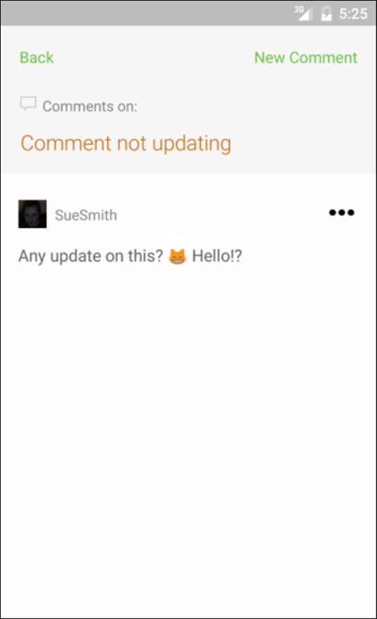 github comment android
