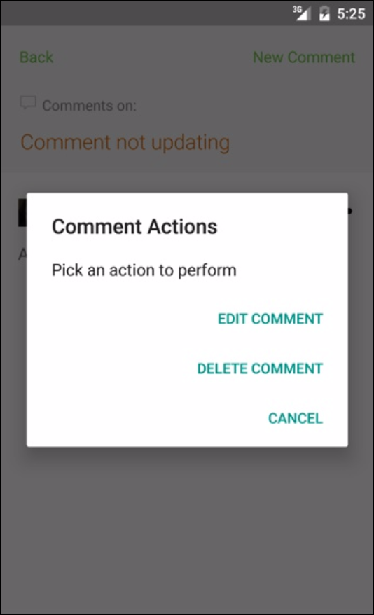 github comment options android