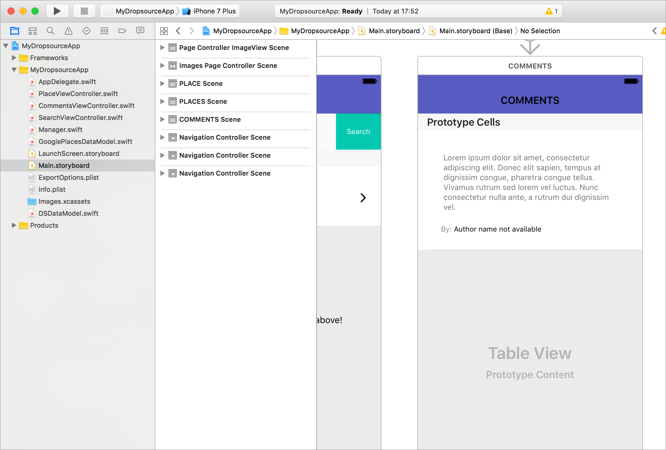 xcode storyboard overview