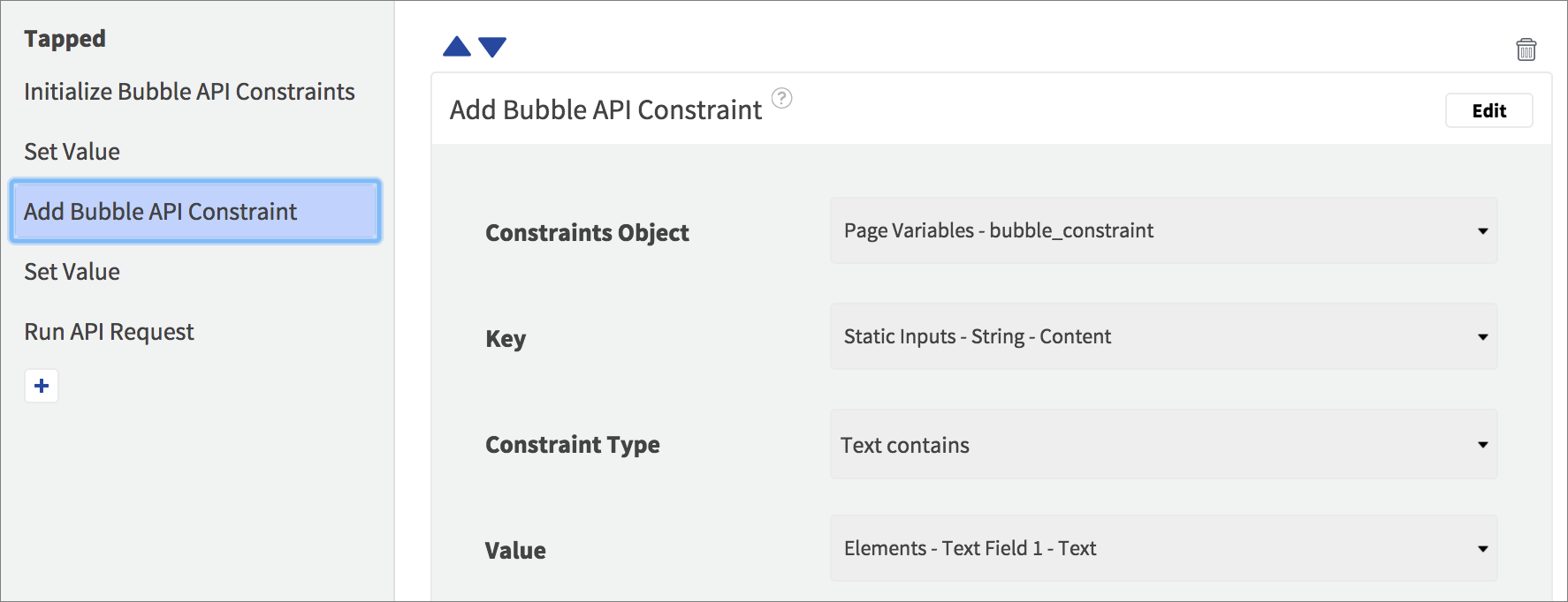 add bubble constraint