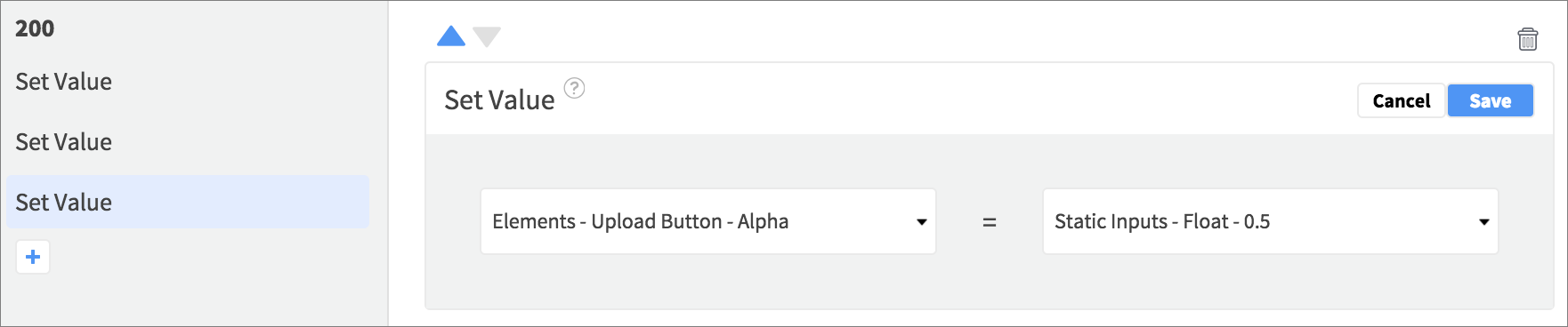reduce upload alpha