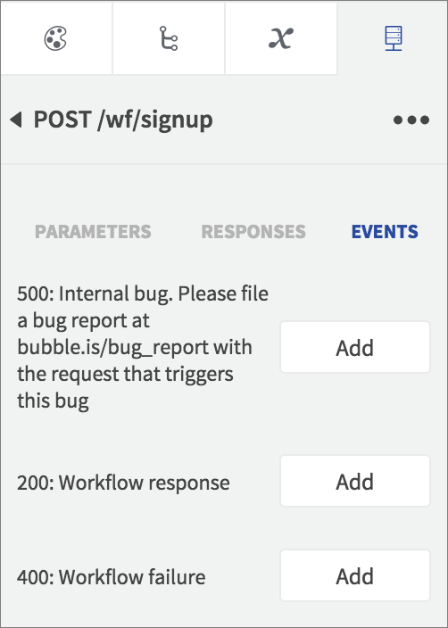 workflow events