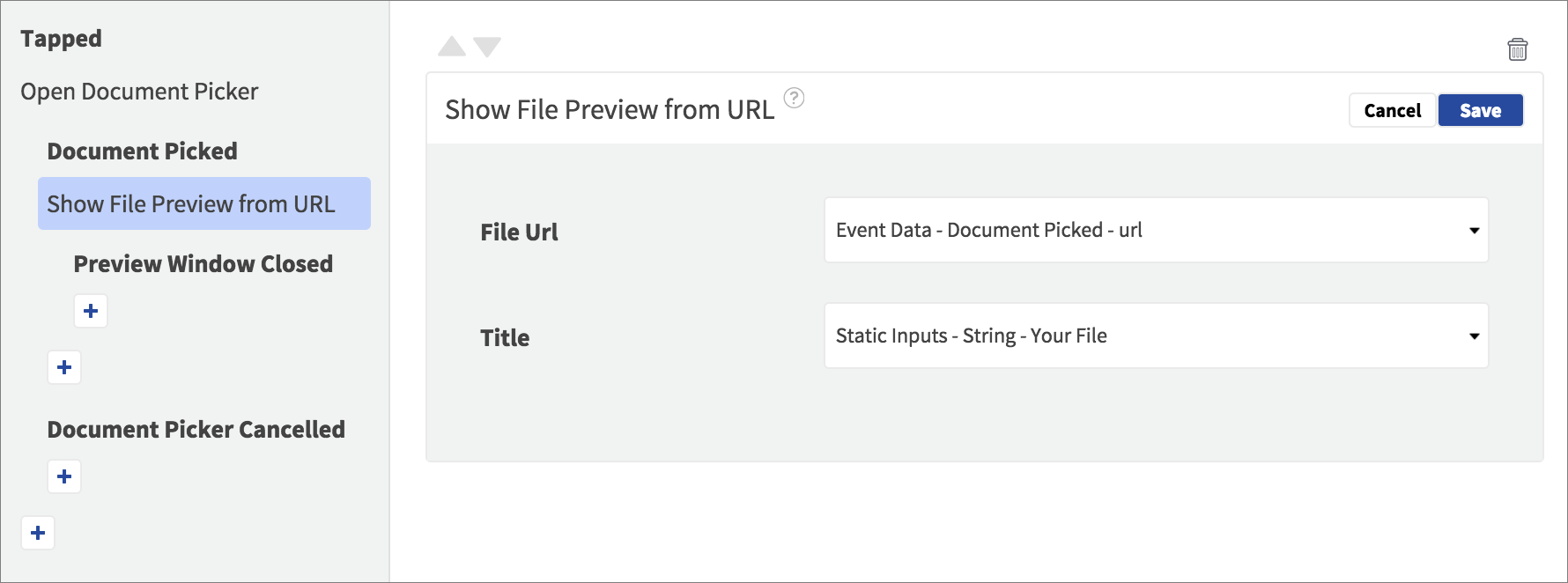 file preview action