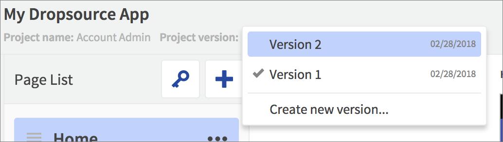 editor versions