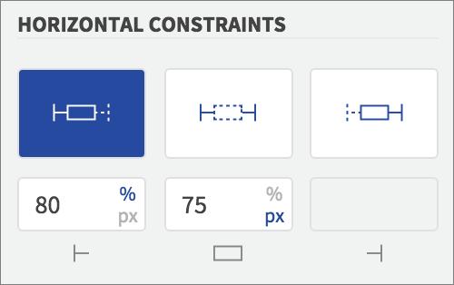 left width constraint